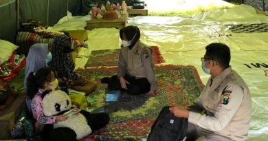 Pasca Gempa di Malang, Polda Jatim Hilangkan Trauma Khususnya Anak-Anak