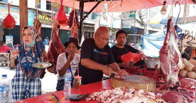 Lebaran Idul Fitri 1442 H Tahun 2021 Harga Daging Kerbau Capai Rp. 180.000/Kg di Pasar Cengkareng Jak-Bar